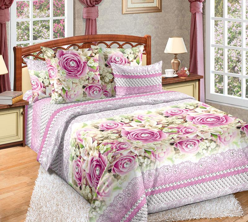 Постельное белье Жемчуг (бязь) (2 спальный с Евро простынёй) постельное белье аллисон бязь 2 спальный