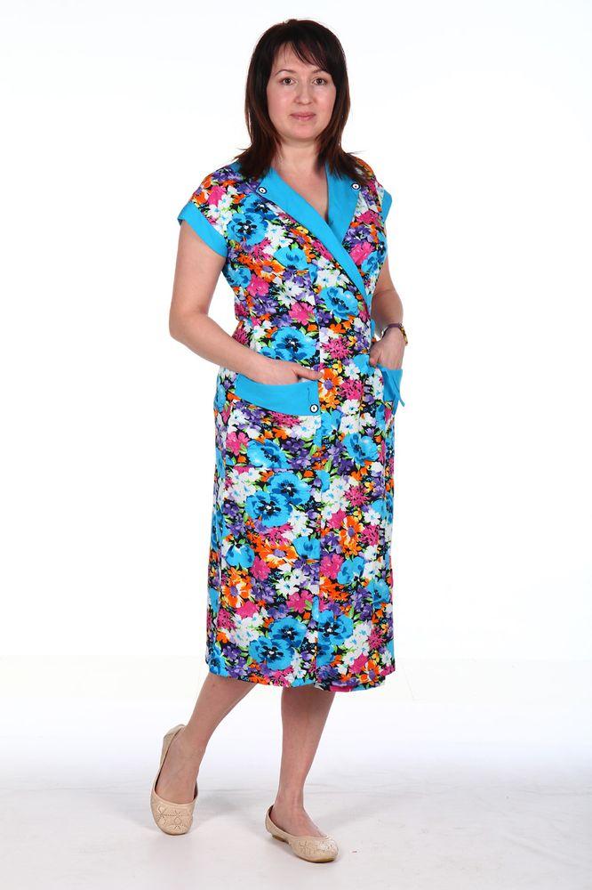Халат женский #Златочка#, Размер: 56 - Халаты - Легкие халаты