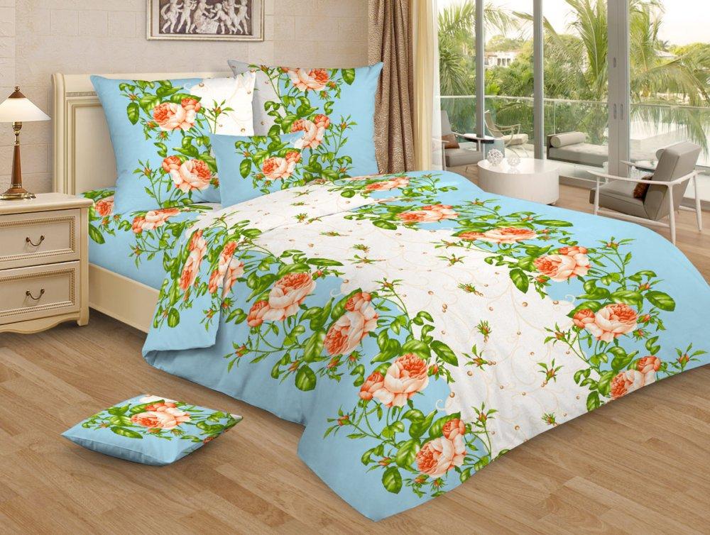 Постельное белье Венера голубая GS (бязь) (2 спальный) постельное белье аллисон бязь 2 спальный