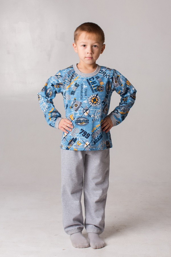 """Пижама детская """"Гонки 1"""" от Grandstock"""