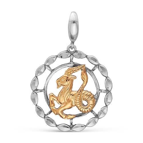 Подвеска серебряная 530890ж10 Козерог vangold серебряная наборная подвеска 603300111734