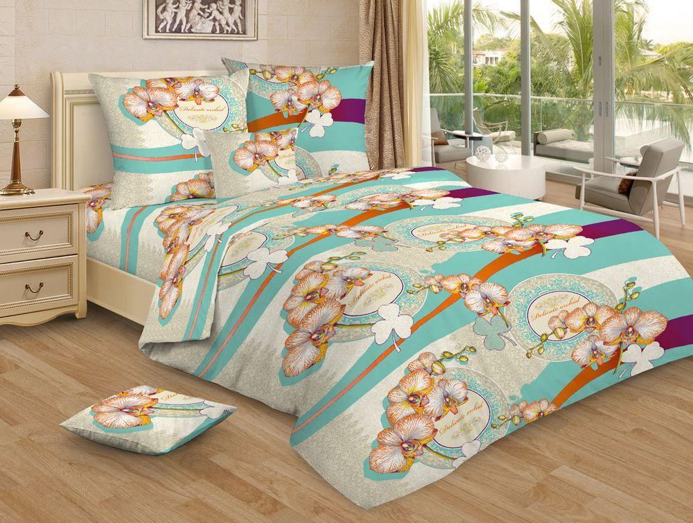 Постельное белье Нежная орхидея GS бирюзовый (бязь) (1,5 спальный) постельное белье примавера постельное белье нежная зелень 1 5 спал