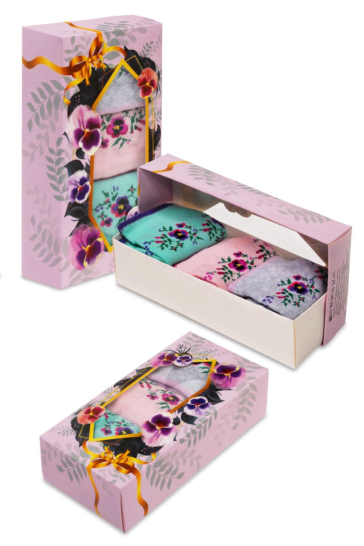 Носки женские Фиалка (упаковка 3 пары) (23-25) носки женские oodji цвет разноцветный 3 пары 57102602t3 48022 5 размер 35 37