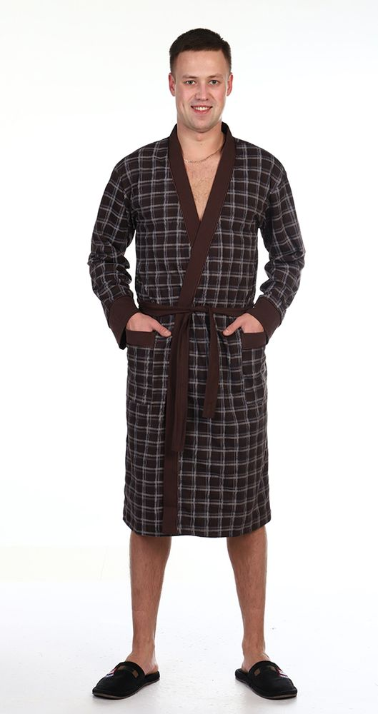 Халат мужской Клетка (48) купить шелковый халат мужской спб