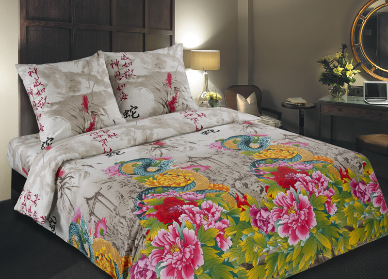 Постельное белье Тропический рай (поплин) (1,5 спальный) spa travel жемчужный слим тропический рай 100 г