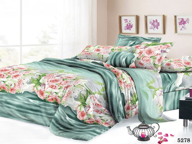 Постельное белье Июньский полдень (полисатин) (1,5 спальный) постельное белье cleo кпб полисатин 246 1 5 спальный