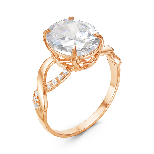 Кольцо серебряное 2389147 кюп женское серебряное кольцо с куб цирконием alm3201002261 17
