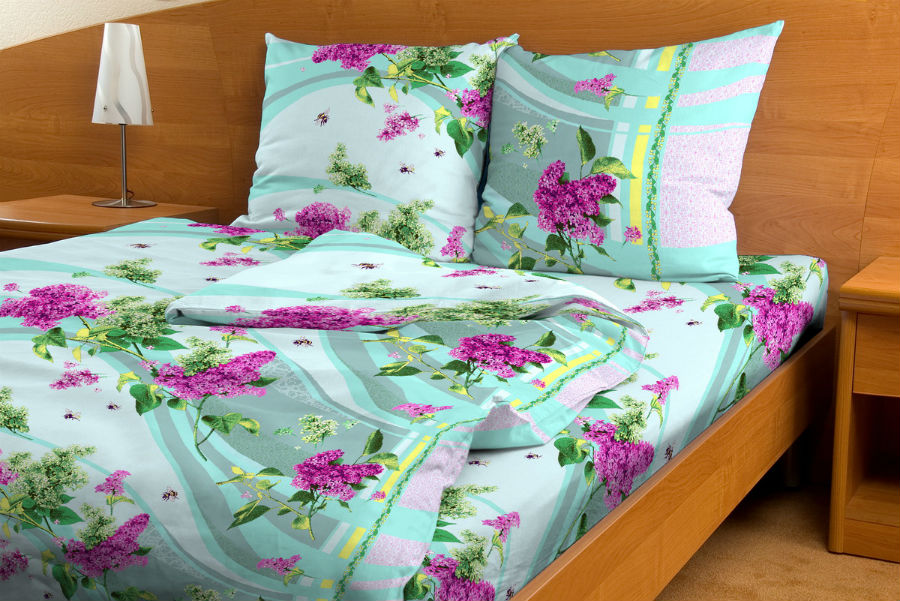Постельное белье Сирень зеленый GS (бязь) (1,5 спальный) постельное белье размеры