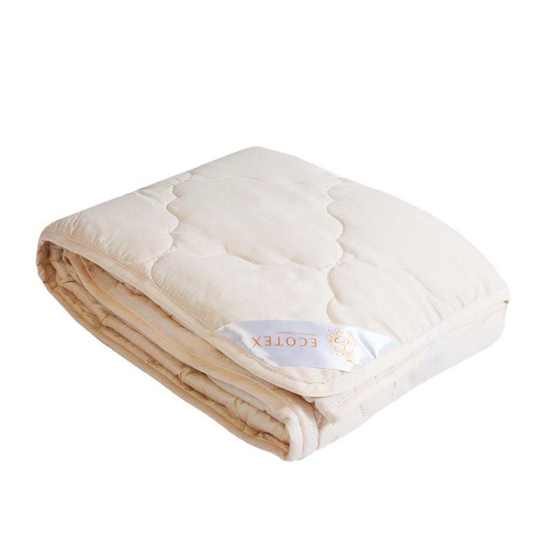 """Одеяло облегченное """"Аркадия"""" (меринос, поплин) (1,5 спальный (140*205)) одеяло облегченное """"золотое руно"""" микрофибра 1 5 спальный 140 205"""