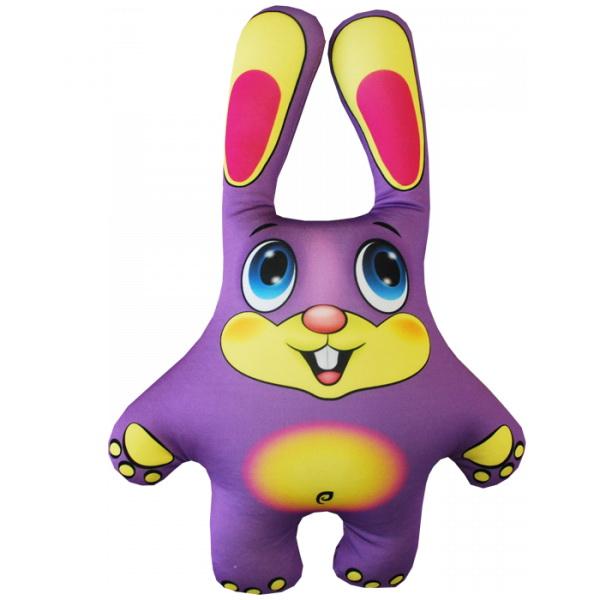 """Антистрессовая игрушка """"Заяц фиолетовый"""" 39х27"""