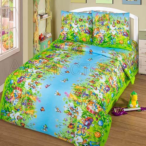 Постельное белье Маленькая страна (бязь) (Ясельный) постельное белье неон синий бязь ясельный
