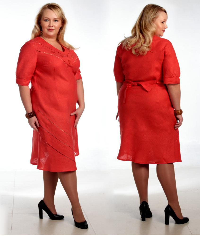 Платье льняное модель Моника