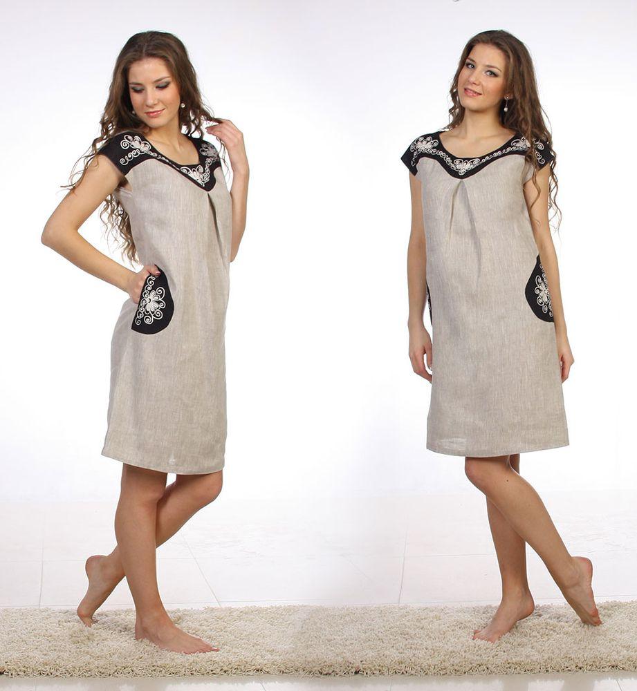 Платье льняное Лайма