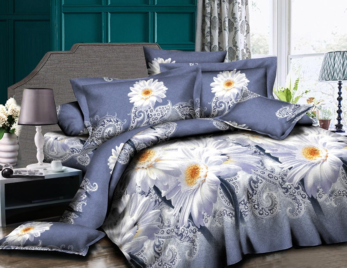 Постельное белье iv46949 5D (полисатин) (1,5 спальный) постельное белье король лев 3d полисатин