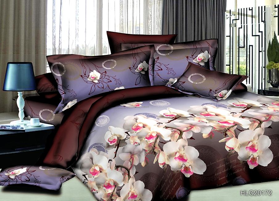 Постельное белье Орхидея (полисатин) (1,5 спальный) постельное белье cleo кпб полисатин 246 1 5 спальный