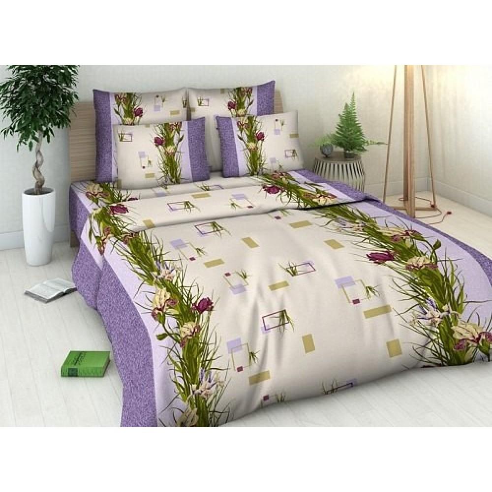 Постельное белье Ирисы (бязь) (1,5 спальный) постельное белье жаркое лето бязь 1 5 спальный
