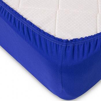 Простыня на резинке Синяя (трикотаж) (60х120) простыня на резинке ирис размер 60х120 см