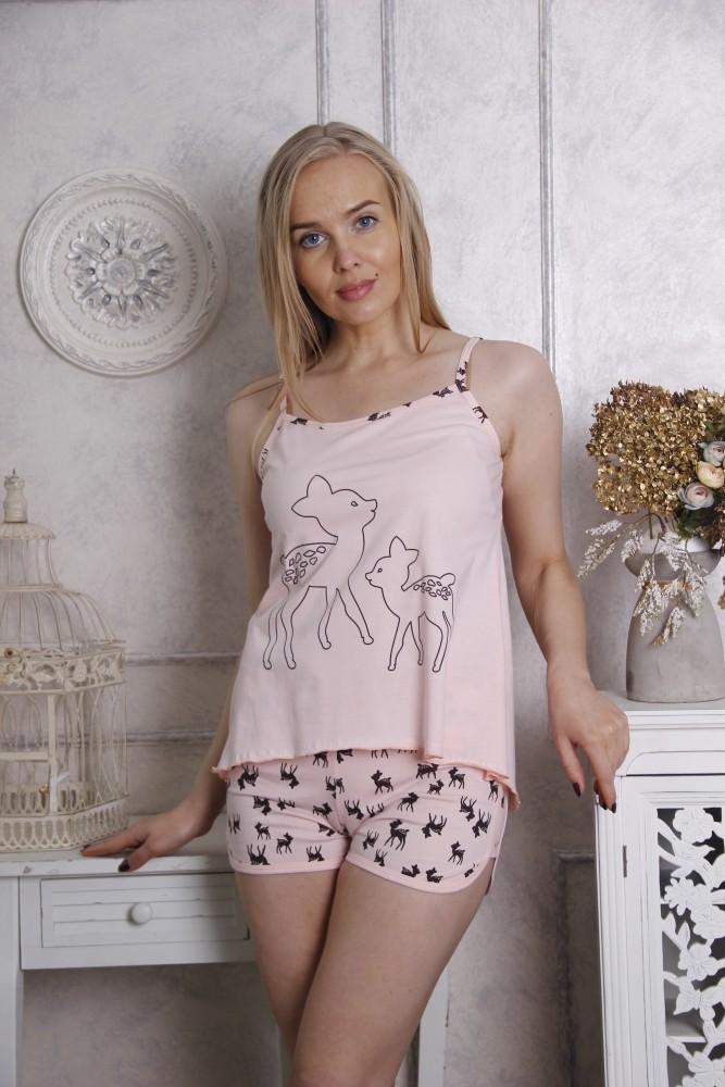 """Пижама женская """"Оленята"""" 44"""