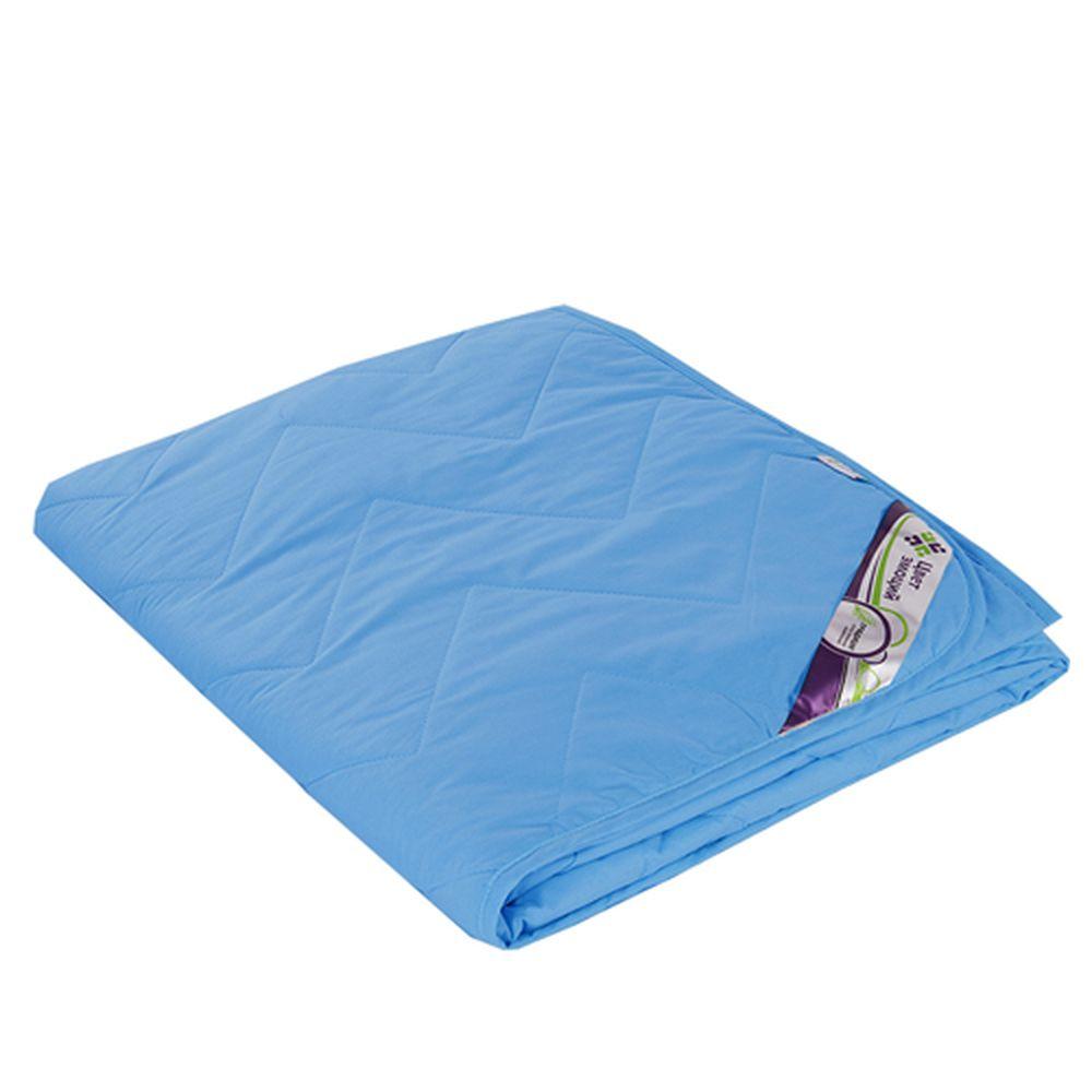 """цена Одеяло облегченное """"Аквамарин"""" (файберсофт, поплин) (1,5 спальный (140*205)) онлайн в 2017 году"""