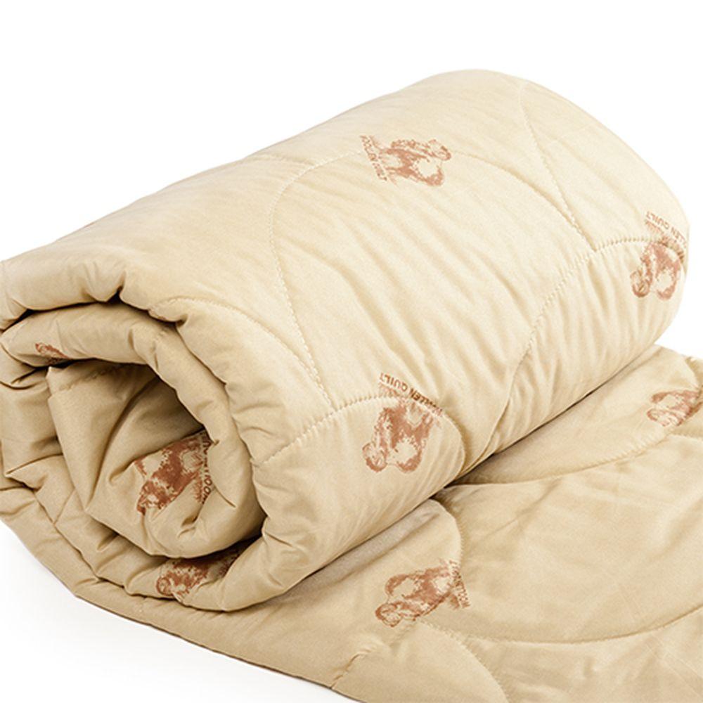 """Одеяло облегченное """"Стандарт"""" (верблюжья шерсть, полиэстер) 2 спальный (172*205)"""