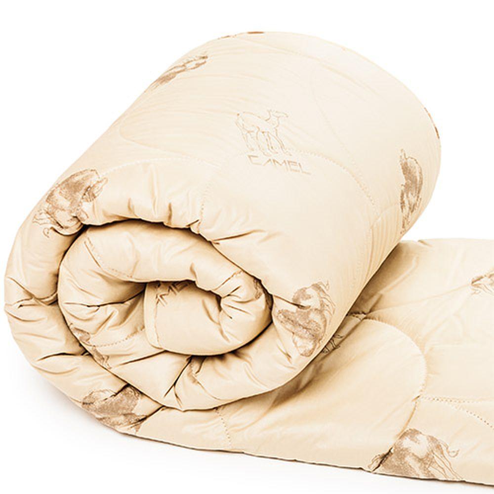 """Одеяло зимнее """"Стандарт"""" (верблюжья шерсть, полиэстер) 1,5 спальный (140*205)"""