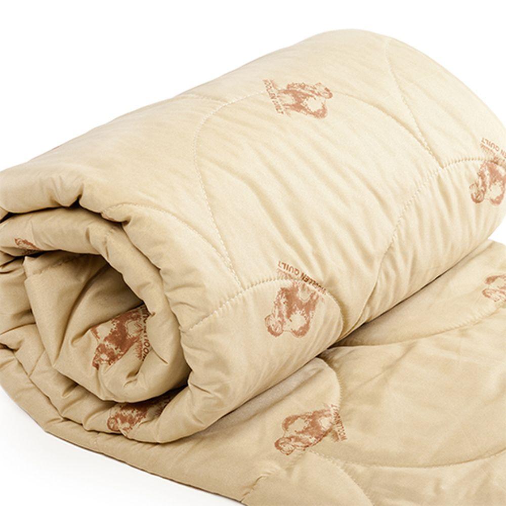 Одеяло облегченное Стандарт (овечья шерсть, полиэстер) (1,5 спальный (140*205)) одеяло ившвейстандарт овечья шерсть 140 х 205 см светло бежевый