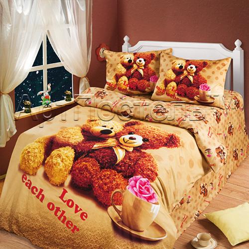 Постельное белье Любимый мишка (сатин) (1,5 спальный) постельное белье любимый мишка сатин 1 5 спальный