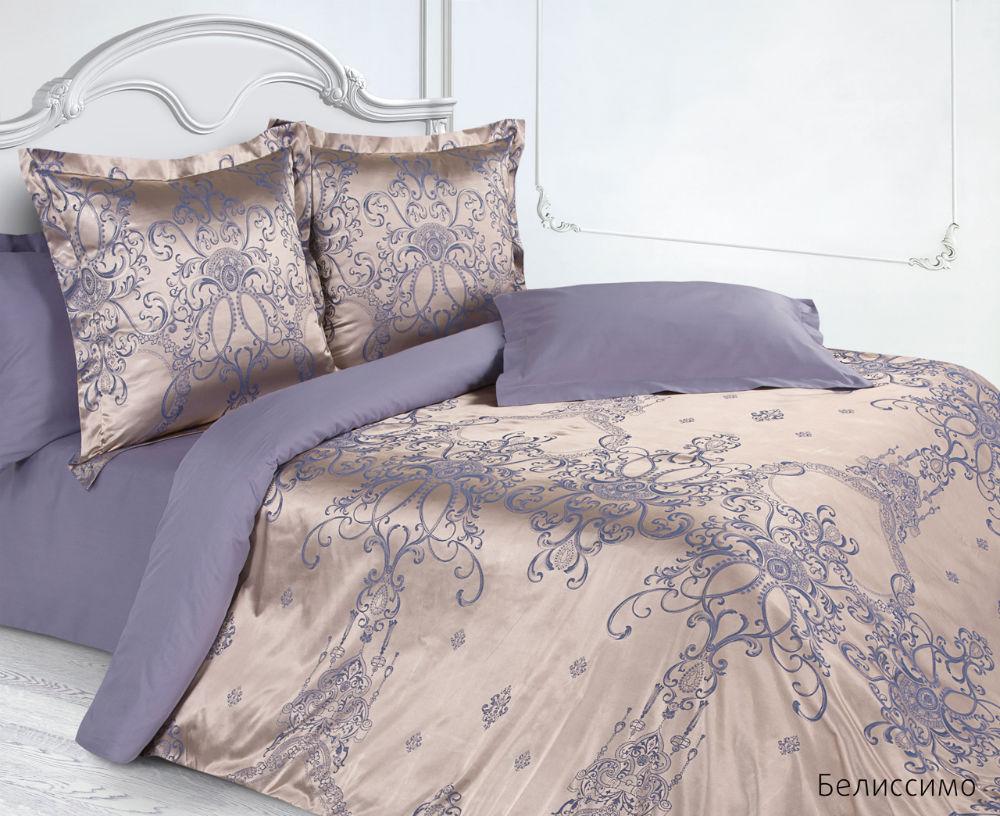 Постельное белье Белиссимо (сатин-жаккард) (Евро-1) постельное белье спаленка кпб сатин премиум евро 2 1