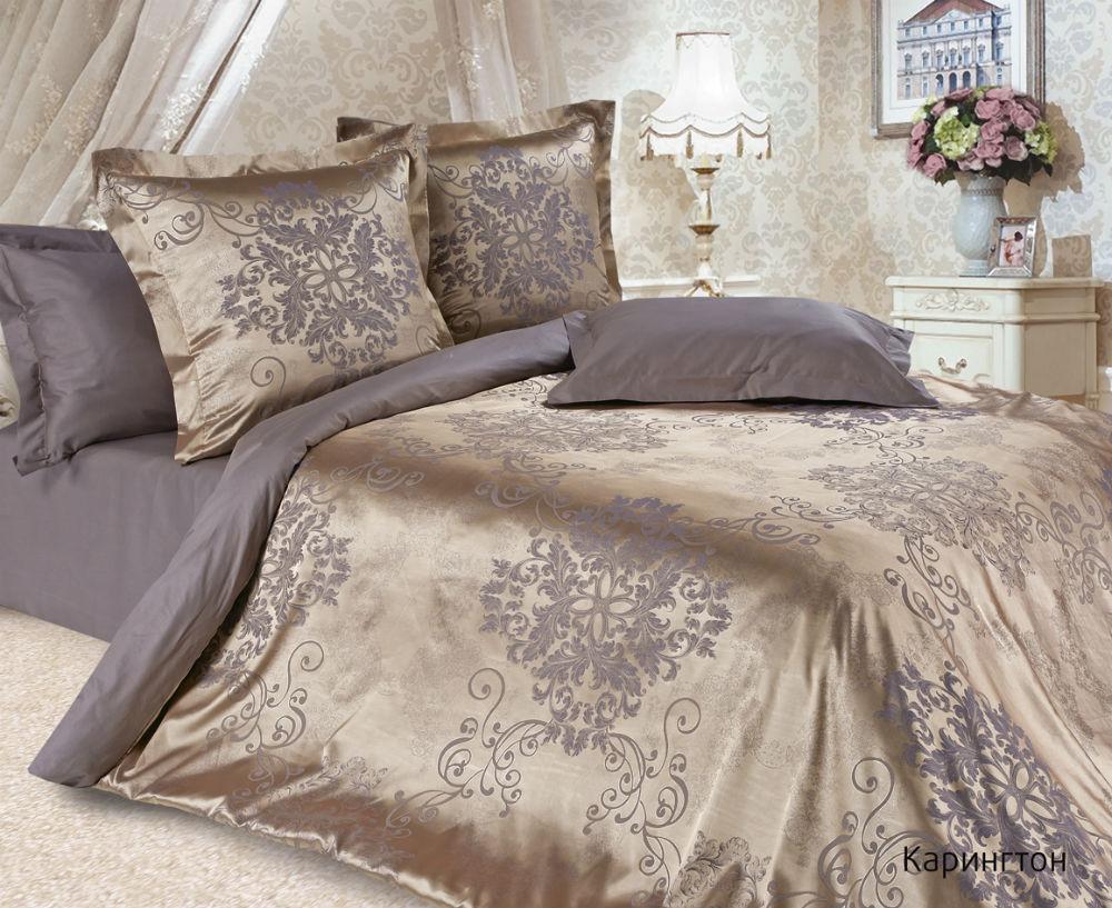 Постельное белье Карингтон (сатин-жаккард) (Евро-1) постельное белье экзотика кензо комплект евро сатин