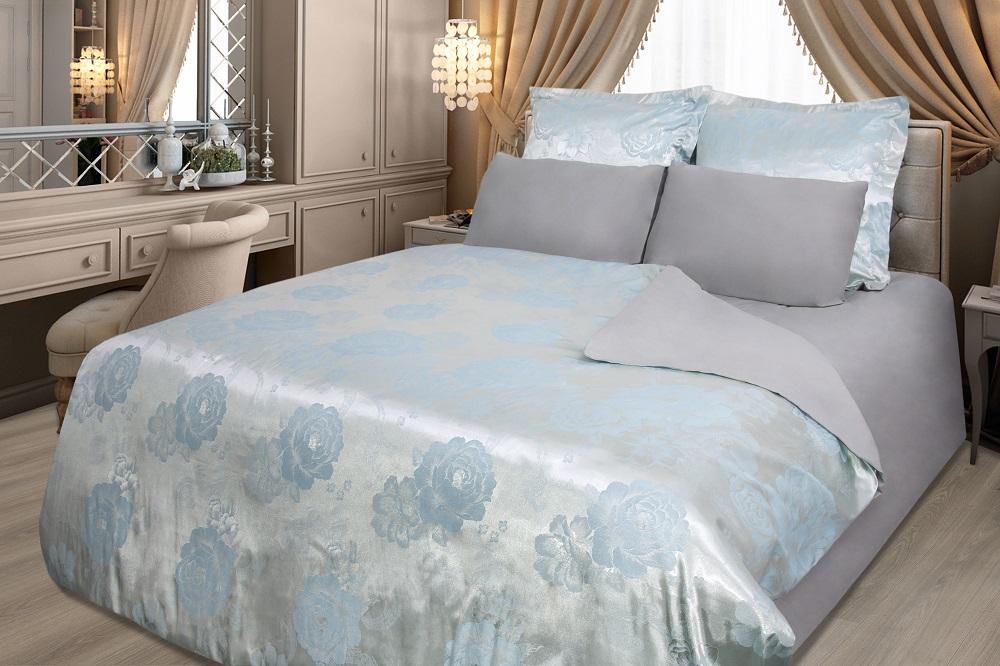 Фото - Постельное белье iv57546 (сатин-жаккард) (2 спальный с Евро простынёй) постельное белье iv69910 сатин жаккард 2 спальный с евро простынёй