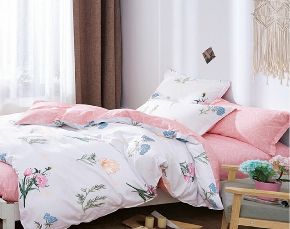 Постельное белье iv65813 (сатин) (2 спальный с Евро простынёй)