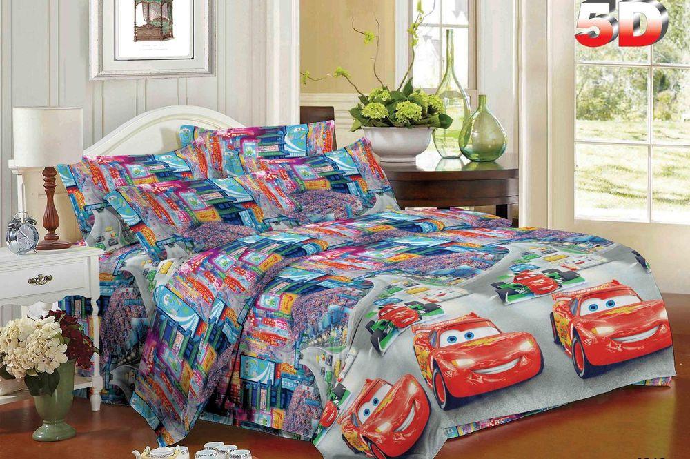Постельное белье Машинки 5D (полисатин) (Ясельный) постельное белье эго комплект 1 5 спальный полисатин