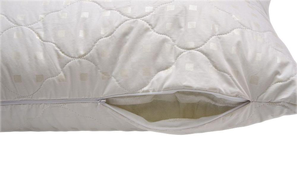 Подушка на молнии iv15683 (лебяжий пух, тик) (50*70) цена в Москве и Питере