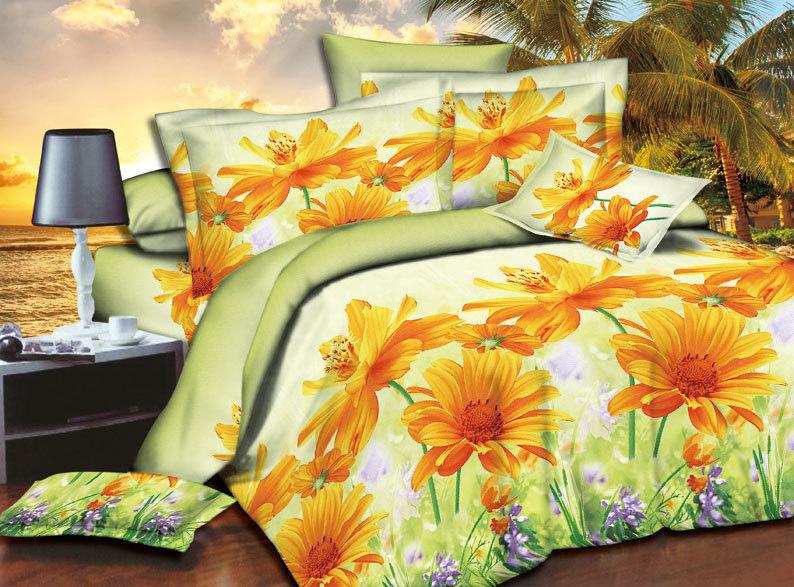 Постельное белье Лето 3D (полисатин) (1,5 спальный) постельное белье эго комплект 1 5 спальный полисатин