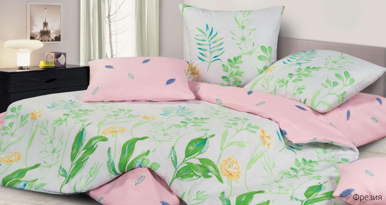 Фото - Постельное белье Фрезия (сатин) (1,5 спальный) постельное белье этель кружева комплект 2 спальный поплин 2670978