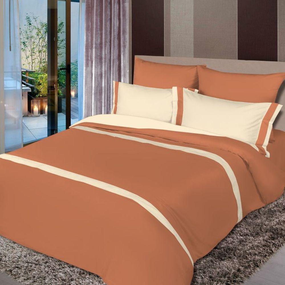 Постельное белье Ореховый мусс (сатин) (2 спальный с Евро простынёй)