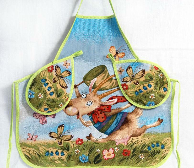 "Фартук кухонный ""Козочка и бабочка"" от Grandstock"