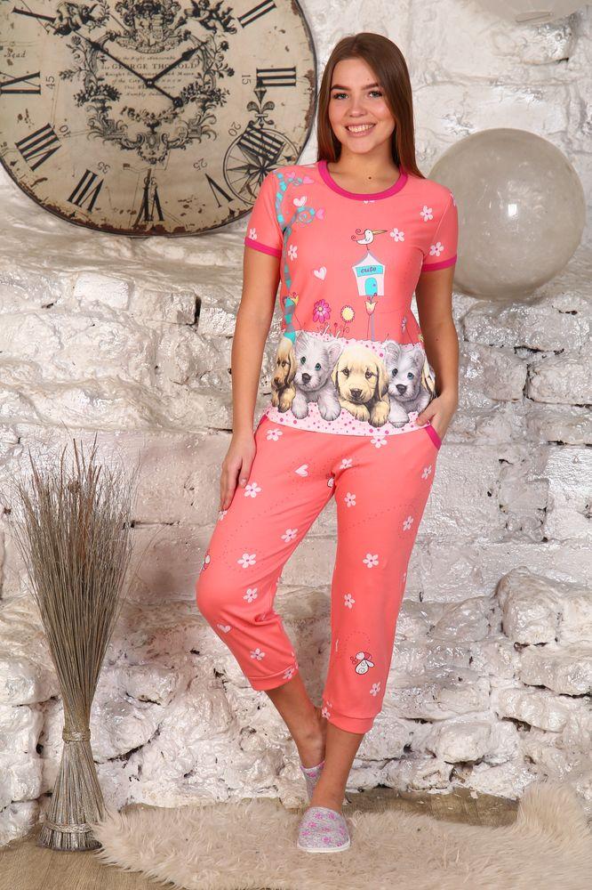 Пижама женская #Милые песики# 44, Размер: 44 - Одежда для сна - Пижамы