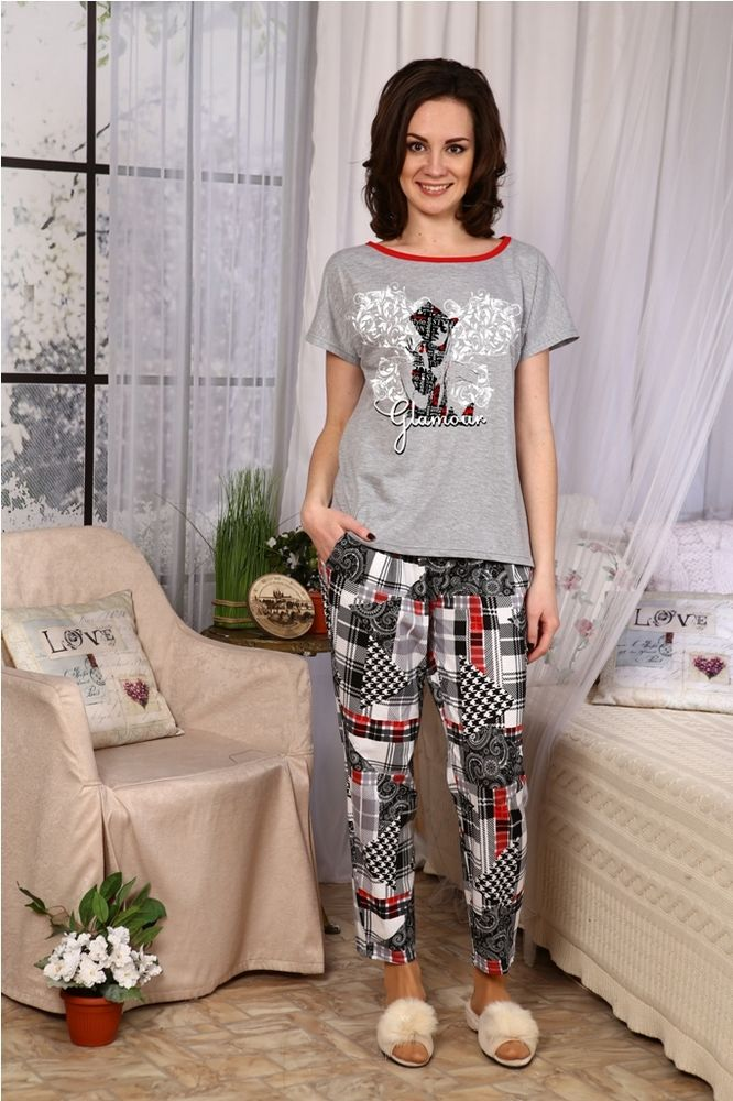 Костюм женский #Глянец#, Размер: 56 - Костюмы - Летние костюмы