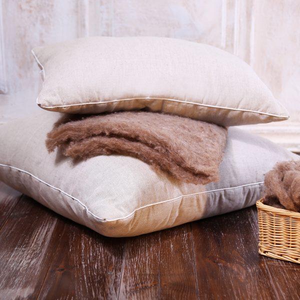 Подушка Полезный сон (лебяжий пух, лен) (40*40) lavera 40