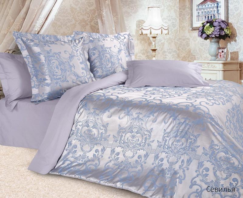 Постельное белье Севилья (сатин-жаккард) (2 спальный с Евро простынёй) постельное белье cleo кпб сатин набивной люкс дизайн 365 2 спальный