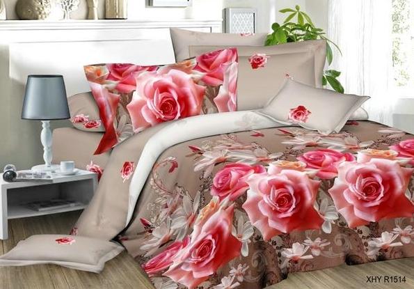 Постельное белье iv63712 (полисатин) (1,5 спальный) постельное белье сирень лучшие друзья комплект 1 5 спальный полисатин кпбм 08675