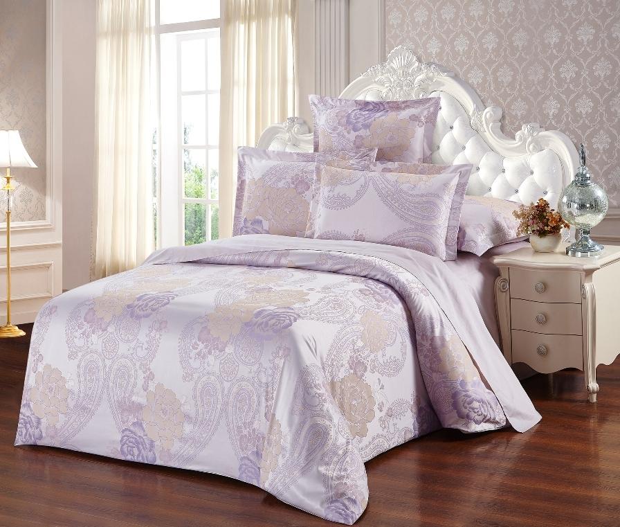 Постельное белье Кассиопея (сатин-жаккард) (2 спальный с Евро простынёй) постельное белье cleo кпб сатин набивной люкс дизайн 200 2 спальный