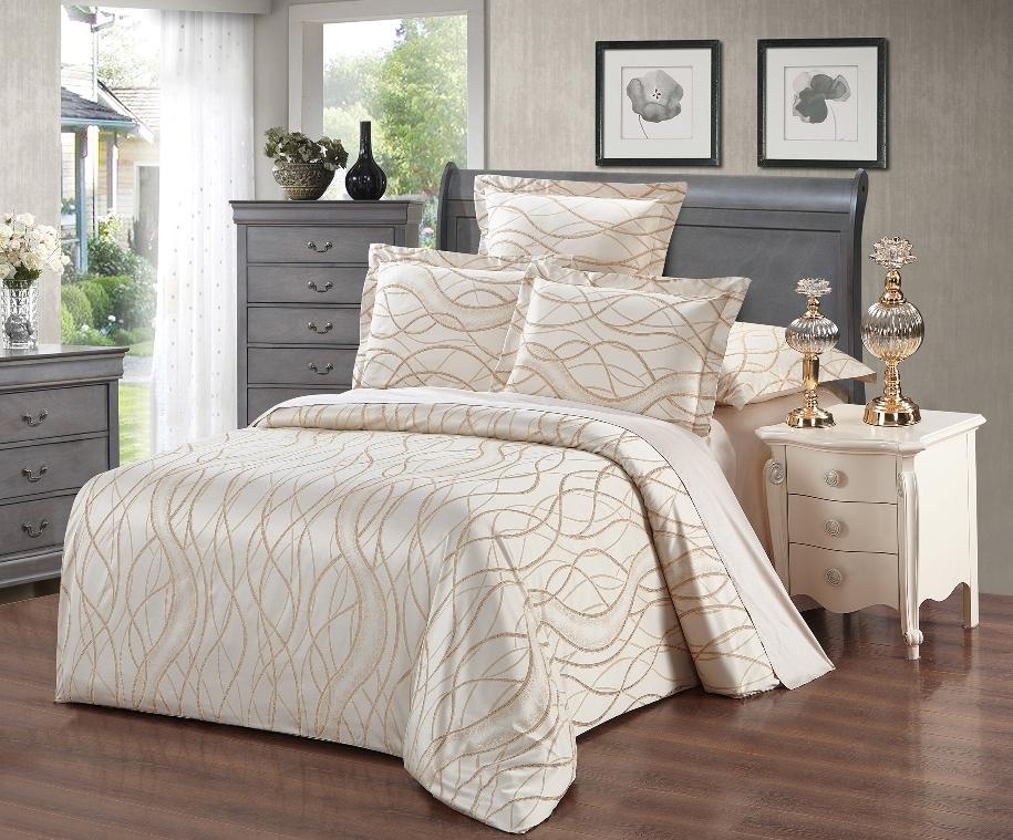 Постельное белье Скорпион (сатин-жаккард) (2 спальный с Евро простынёй) постельное белье cleo кпб сатин набивной люкс дизайн 365 2 спальный