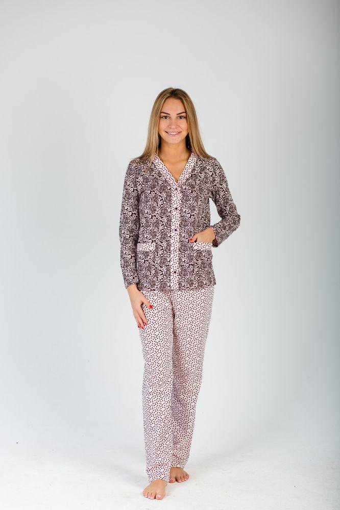Пижама женская #Эльза# (брюки) 50, Размер: 50 - Одежда для сна - Пижамы