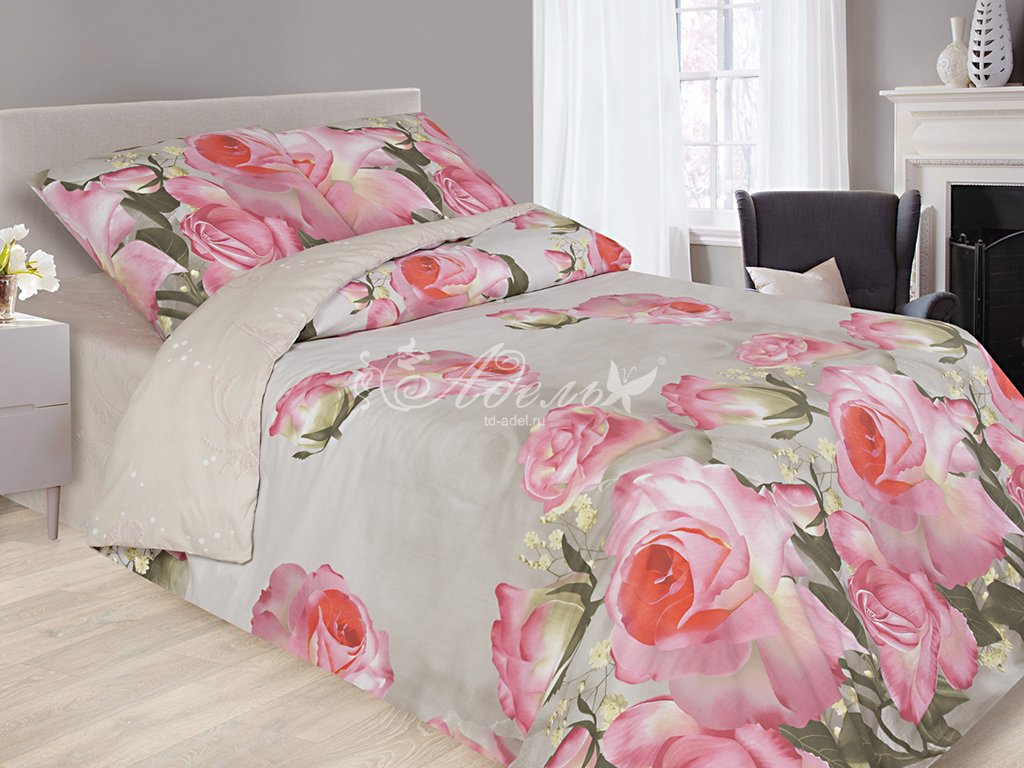 Фото - Постельное белье Майская роза (сатин) (1,5 спальный) постельное белье тифани сатин 1 5 спальный