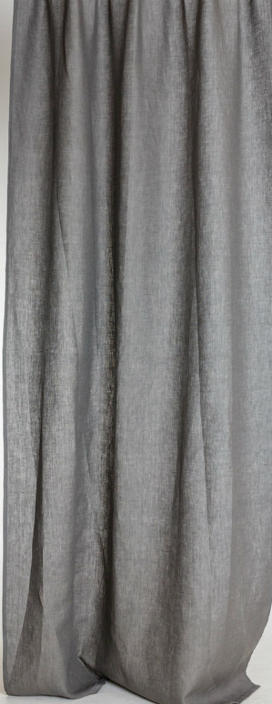 """Штора для гостиной """"Квадро"""" темно-серый (лен) 145х270"""