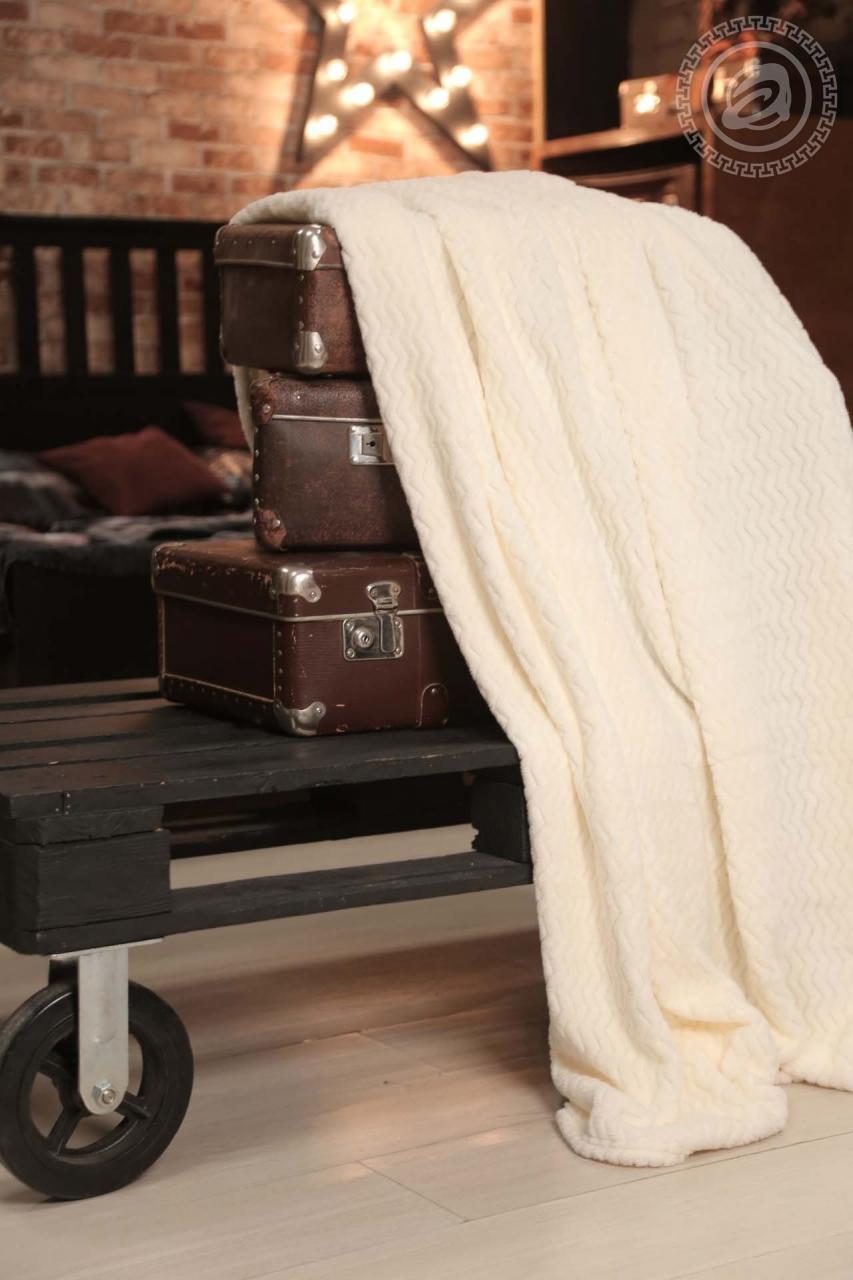Плед Роскошь сливки (флис) (150х200) плед absolute плед огурцы 150х200 см