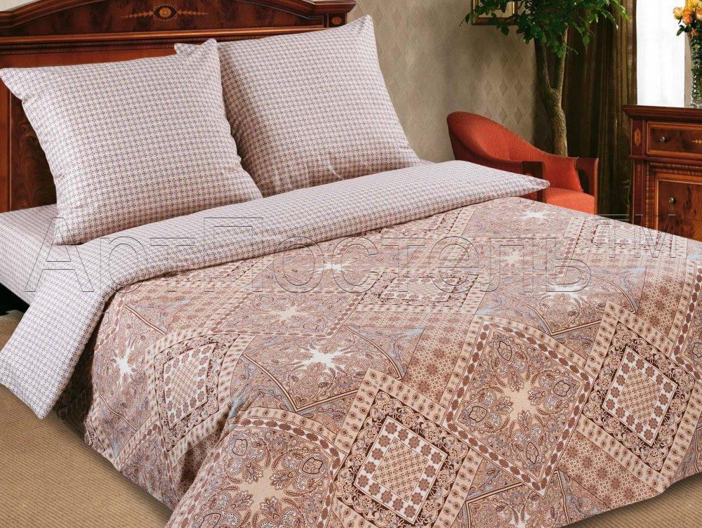 Фото - Постельное белье Италия бежевый (поплин) (1,5 спальный) постельное белье этель кружева комплект 2 спальный поплин 2670978