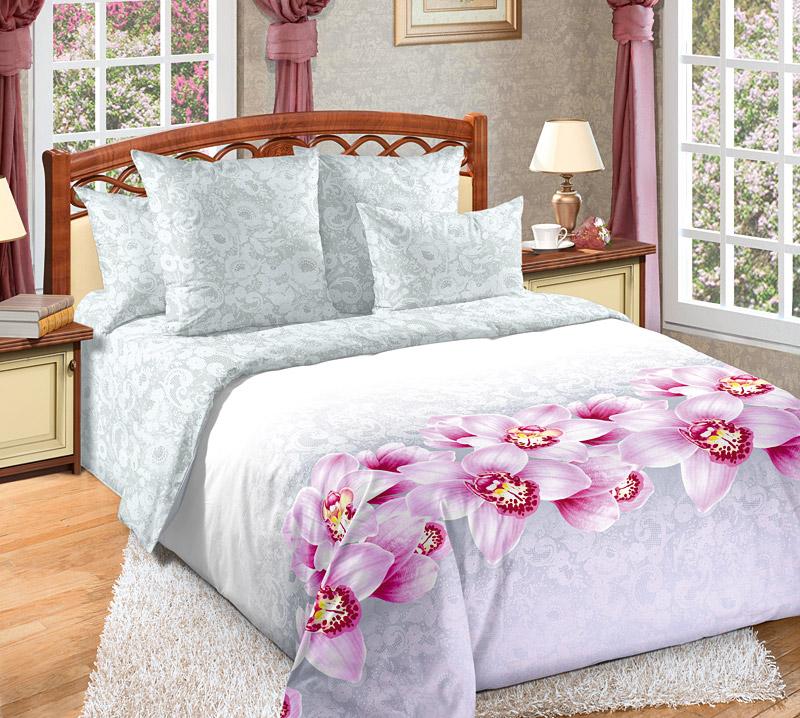 Фото - Постельное белье Аромат орхидей (сатин) (1,5 спальный) постельное белье этель кружева комплект 2 спальный поплин 2670978